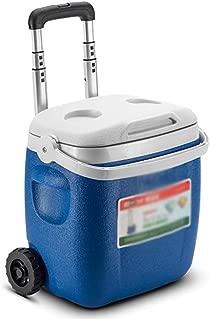 LOCGFF Enfriador y Calentador de método físico, Mini refrigerador de 16 litros con Ruedas y asa extraíble, para Viaje en automóvil y en casa, Camping, Conductor de camión