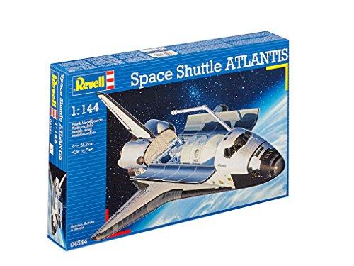 Revell Modellbausatz Flugzeug 1:144 - Space Shuttle Atlantis im Maßstab 1:144, Level 4, originalgetreue Nachbildung mit vielen Details, Raumfahrt, Weltraum, 04544
