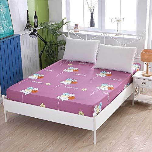 1 funda de colchón de 100% algodón, diseño de dibujos animados, cuatro esquinas con banda elástica para cama de hotel (color: 8, tamaño: 80 x 190 x 15 cm)
