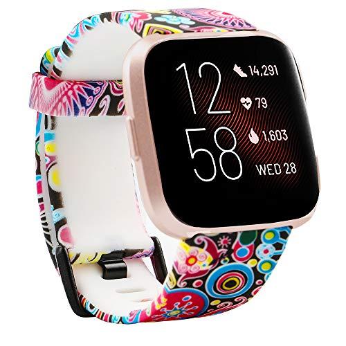 Baaletc voor Fitbit Versa 2 Strap, Classic TPU Silicone Sport Vervangende Bands compatibel met Versa/Versa Lite/Versa Special Edition/Versa 2,Vrouwen Mannen Klein Groot