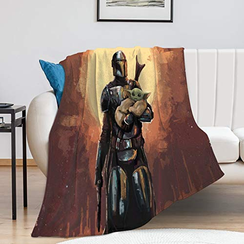 Popular Theme Printed Star Wars The Child Mandalorian Season 2 Kids Baby Yoda Blanket for Children (80x100cm)