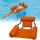 FANIER WOSNN Hamaca hinchable Lounge, piscina flotante Hammock Recliner Lounge hinchable Lounge de baño tumbona de agua tumbona...