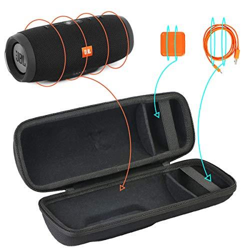 Khanka Hart Reise Tasche Für JBL Charge 3 Stealth Edition Bluetooth Lautsprecher Case Schutzhülle.(Schwarz)