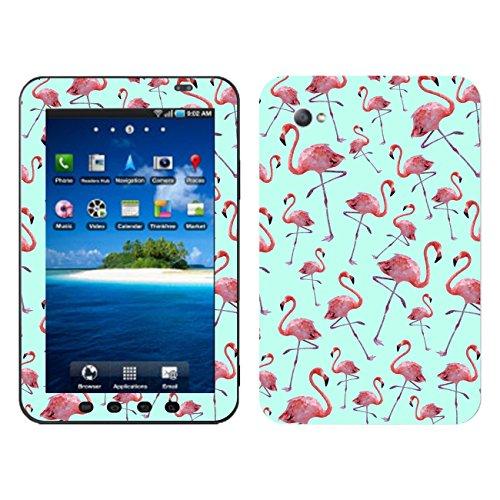 'Disagu SF 101712_ 1094Designer'Flamingo Pattern Blue Skin for Samsung Galaxy Tab–Clear