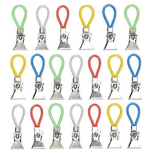 Gobesty 20 Stück Handtuch Haken Clip, Handtuchhalter-Clips Metall, Multifunktions Handtuchclips für Bad, Kücher