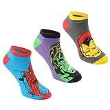 6 pares / 3pares de calcetines con diseños de superhéroes de Marvel, Spiderman, Hulk, Capitán América, Iron Man Marvel Ankle Socks 3 Pairs 41-45 Hombre