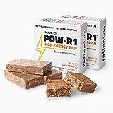 ration1 POW-R1® High Energy Bar – Vorrat für 1 Tag für 1 Erwachsenen – aufgeteilt auf 2 Packungen mit je 4 Energieriegeln (Insgesamt 8 Powerbar Riegel) – Vegan & Laktosefrei!