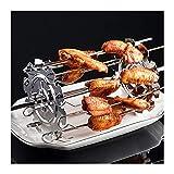 Caja de acero inoxidable Cause a la parrilla Barbacoa Barbacoa Barbacoa Kebab Maker Carne Machine Machine BBQ Grill Cocina Aire Fryer Accesorios (Color : 20cm)