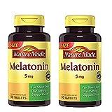 Maximum Strength Melatonin 5 mg Tablets 90 Ct (2 Pack)