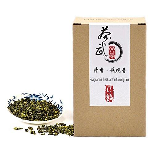 Cha Wu-[C] Fragrant TieGuanYin Oolong Tea,8.8oz/250g,WuLong Tea Loose Leaf Wu Long,Origin of AnXi,FuJian,Chinese