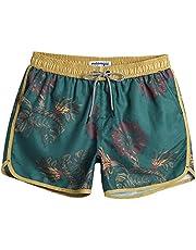 MaaMgic Heren Swim Shorts Vintage Retro Boardshorts Sneldrogend met mesh voering en verstelbaar trekkoord