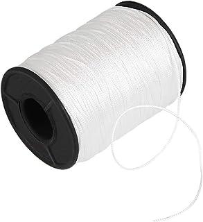 Kbnian 150Yards Weiß Geflochtene Lift Shade Cord 1,0 mm Fahnenseil Zugschnur für Jalousien Aluminium Blind Shade, Gartenbau Werk und Handwerk