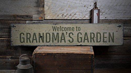 LynnYo22 Wp301889 Panneau de Jardin en Bois pour Grand-mère Fait Main 5,5 x 24 cm