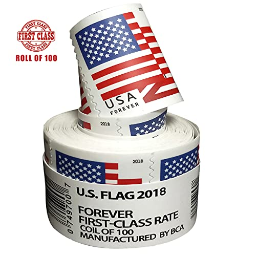 2018 Roll of 100Self AdhesiveS ta mP Forever Security