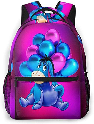 Winnie The Pooh Casual Rucksack 16 X 11,5 X 8 Zoll Daypack Camping Bookbag für Frauen Männer Schüler, Bookbag Casual Wandern Reisen Daypack Geschenk