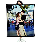 Daddy Baby Custom Photo Throw Blankets Personalized Couples Lovers Fleece with Picture and Text Keep Best Memory Moment (18'x28')