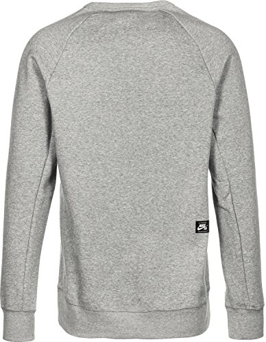 Nike M NK Sb Top Icon CRW GFX Hrtg T-Shirt für Herren L Dunkelgrau/grün (Dk Grey Heather/Midnight Green)
