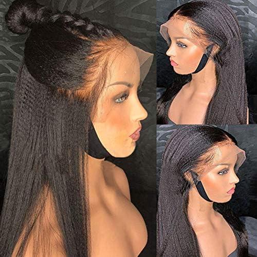 Yaki Kinky Straight Lace Front Wig MSGEM 16 inch 150 Density Mongolian Kinky Straight Lace Front product image
