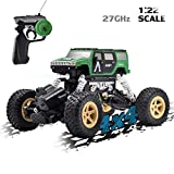 Vanzer 1:22 Scale Mini Military RC Off-Road Car Toy Car,4WD Racing Remote Control Car, Rechargeable Hobby Crawlers Monster Car All Terrain Climbing Waterproof,Xmas Gift for Boys Girls Kids Adults