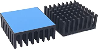 6pcs Heatsink 25 x 25 x 10 mm / 0.98 x 0.98 x 0.39 inch Aluminum Heat Sink with Thermal Conductive Double Sided Tape for C...
