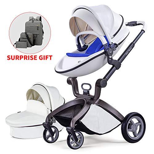 Детская коляска 2020, горячая мама детская коляска с люлькой Combo High Landscape Pu кожаная коляска, Белый