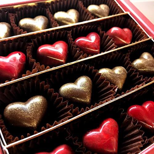 Eat to Fit Love Hearts ohne Zucker - Karamell & Haselnusscreme Pralinen. Box 16er - Diabetiker Schokolade. Zuckerfreie Kleine Herzen Pralinen.