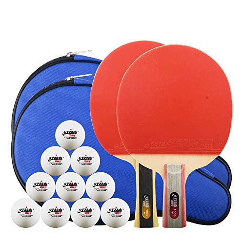 Buy SSHHI Ping Pong Racket, Suitable for Beginners, 2 Pcs Ping Pong Paddle, Flared Handle, Strong/As...