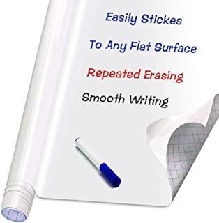 Self Adhesive White Board Paper - Dry Erase Wall Stickers Roll 17.7