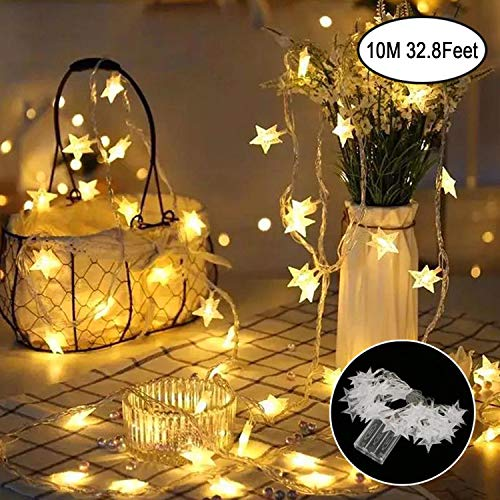 Star String Light, Battery Powered 40 Multi-Color Twinkle LED Indoor and Outdoor Decoration Ideal for Kids Room Bedroom Wall Tent Wedding Fairy Birthday Holidays