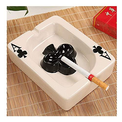 Bandeja de cenizas de cerámica para ahumar personalidad, para el hogar, salón, regalo para cenicero novio (color: B) YXF99 (color: D)