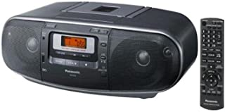 Panasonic RX-D55GC-K Boombox - High Power Portable Stereo AM/FM Radio, MP3 CD, Tape Recorder with USB & Music Port Sound w...
