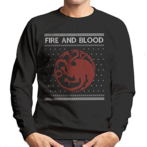 Game Of Thrones House Targaryen Crest Fire And Blood Christmas Knit Men'S Sweatshirt