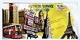 MI RINCON Cuadro de Madera Vintage Ciudad New York, Paris, London, 52x25 cm