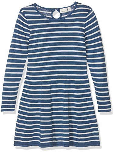 Name It Nitgetimma Ls Knit Dress F Mini Robe Bébé Fille, Multicolore (Ensign Blue) 98