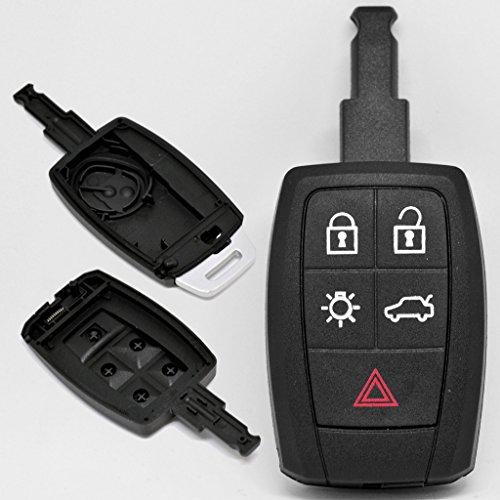 Auto Llave Mando a distancia 1x Caja 5teclas + 1x Not llaves en blanco para Volvo