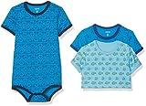Amazon Exclusive: Care Baby - Jungen Kurzarm-Body im 3er und 6er Pack Blau...