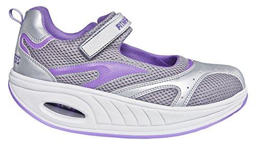 Fitness Step Urban Training - Zapatillas tonificadoras para Mujer, Color Gris/Morado, Talla 40