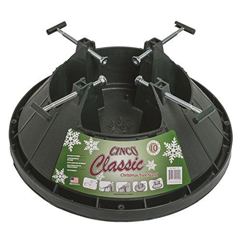 Cinco Support pour sapin de Noël-Arbre classique de rétention d'eau avec Support pour arbre Jusqu'à 10 cm de haut