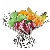 Stainless Steel Countertop Fruit Bowl, Creative modern Home Decor Fruit Basket Stand Holder Vegetable Storage Organizer in Kitchen Living/Dining Room