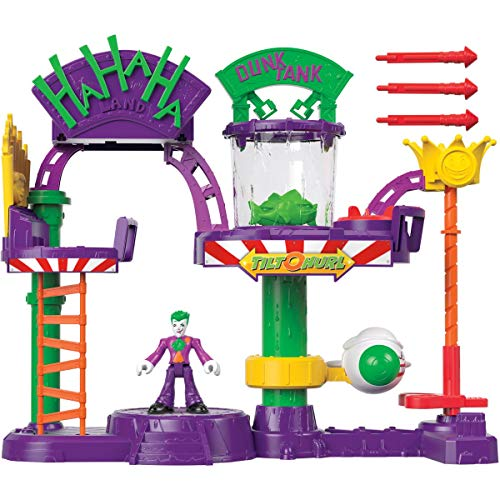 Imaginext Fisher-Price DC Super Friends The Joker Laff Factory, Multi Color, Model:GBL26