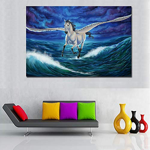 tzxdbh Magische Pegasus Animal Wall Pictures Voor Woonkamer Paard Dier Canvas Schilderij Gedrukte Poster Geen Frame-in Schilderij & Kalligrafie Groep 20x30CM No Frame