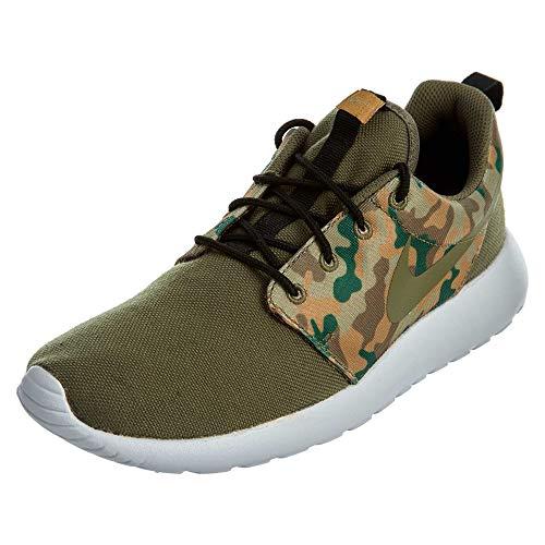Nike Mens Roshe One SE Running Shoes (11.5 D (M) US, Medium Olive Camo/Black)