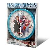 Disney Frozen 2 Pared Relojes de Chimenea Decoración del hogar Unisex Adulto, Multicolor (Multicolor), única