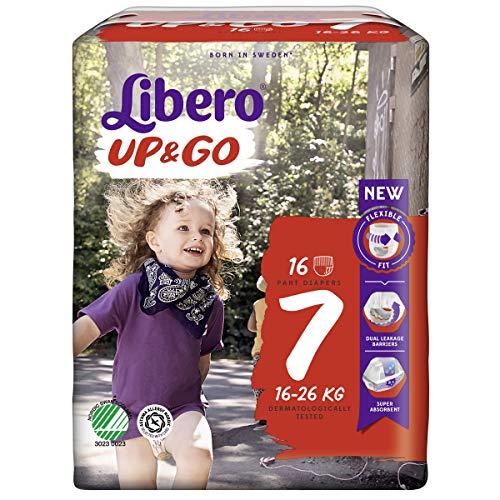 Libero UP&GO 7 Windeln für Babys, 16-26 kg, 1er Pack (1 x 16 Stück)