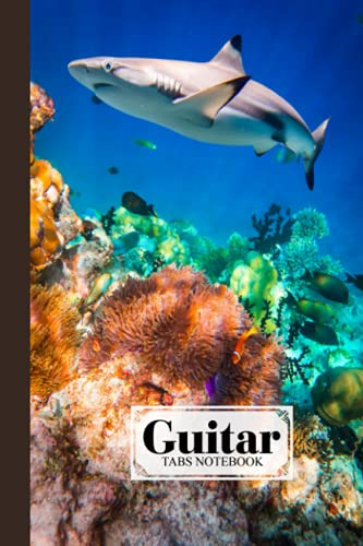 Guitar Tab Notebook: Guitar Tab Notebook Sharks Cover, Blank Guitar Tab Manuscript Paper, 120 Pages - Size 6