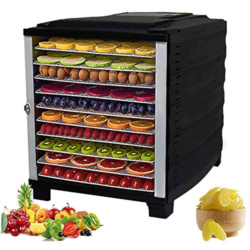 Review 10 Layers Food Dehydrator, 29~70°C Temperature Setting, 24h Timer, Fruit Dryer Machine, Dehy...