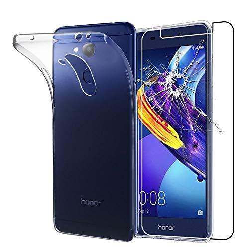 ebestStar - kompatibel mit Huawei Honor 6C Pro Hülle Handyhülle [Ultra Dünn], Durchsichtige Klar Flex Silikon Schutzhülle, Transparent + Panzerglas Schutzfolie [Phone: 147.9 x 73.2 x 7.7mm, 5.2'']