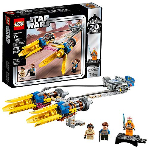 LEGO Star Wars: The Phantom Menace Anakin's Podracer – 20th Anniversary Edition 75258 Building Kit (279 Pieces)