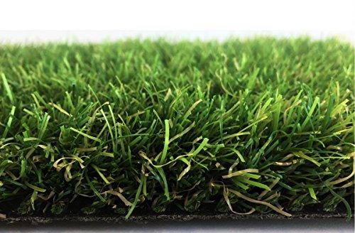 Deluxe Kunstrasen Tahiti - 32 mm 2.200 g/m² | Rasentepppich nach Maß | 100% Polyethylen | sehr strapazierfähig | Indoor Outdoor | für Garten, Terrasse, Balkon, Camping, Farbe:Grün, Größe:200 x 450 cm