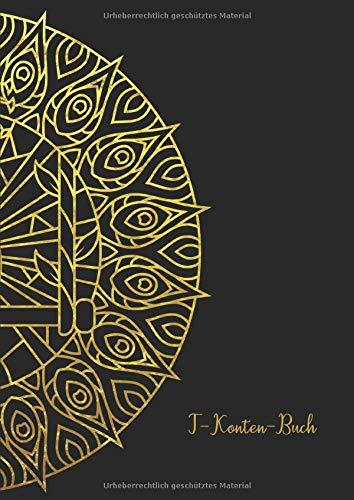 T-Konten-Buch: T-Konten-Block im Buchformat A4, 100 Seiten mit je 8 T-Konten plus Platz für Notizen